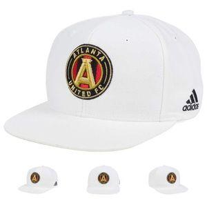 NWT Atlanta United Adidas White Snapback Cap